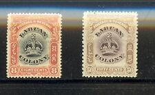 Labuan Scott 102, 108 Mint hinged VF (Catalog Value $27.00)