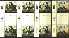 PITCAIRN ISLANDS 2012 CHARLES DICKENS GUTTER PAIRS(B) MNH