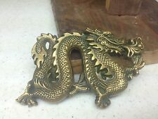 VINTAGE 1981 BARTON BUCKLES SOLID BRASS DRAGON BELT BUCKLE