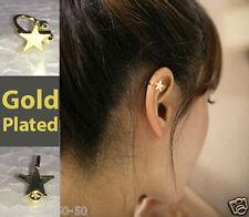 1 piece New Fashion star heart clip stud earrings gift for women girls