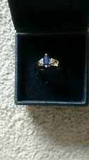 Lovely marquise cut sapphire ring Yellow gold Size O-P