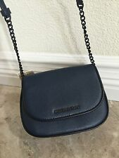 Michael Kors JS French Binding Small Flap Leather Messanger Crossbody bag Navy