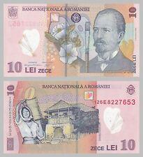 Rumanía/Romania 10 lei 2012 polímero unz p119d