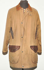 BEAUTIFUL ROYAL SCOT MEN'S WAX JACKET  MEDIUM  BROWN + LEATHER COLLAR