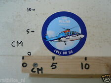 STICKER,DECAL KLM HELIKOPTERS RELY ON US