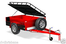 TRAILER PLANS - OFF-ROAD CAMPER TAILER PLANS - 3 Sizes 7x4ft, 6x4ft & 7x5ft