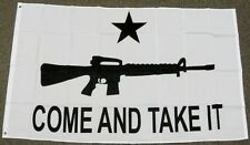COME AND TAKE IT ASSAULT RIFLE FLAG 3X5 GUN CONTROL RIGHT M4 TEXAS GONZALES F674