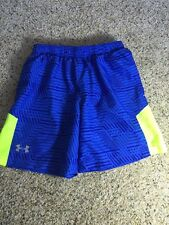 Under Armour Heat Gear Shorts SMALL Blue Mesh Lined Kd1