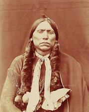 COMANCHE INDIAN CHIEF QUANAH PARKER VINTAGE PHOTO NATIVE AMERICAN 1892 #21072