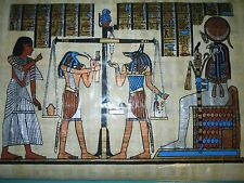 Egyptian Authentic Papyrus from Giza-: Final Judgment watching God of the Sun