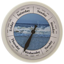 """DAY OF THE WEEK CLOCK  """"Breakers"""" 10"""" Wall Day Clock #D231W"""