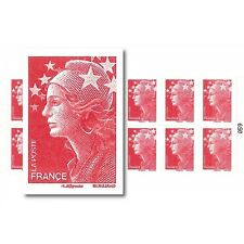 CARNET MARIANNE ROUGE DE BEAUJARD 12 TIMBRES
