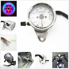 Circle LED Dual Odometer Speedometer Speed Test Gauge Meter For Motorcycle KYMCO