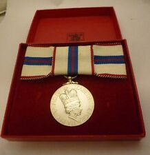 QUEEN'S SILVER JUBILEE 1977 GENUINE MEDAL LADIES BOW - MISS GLADYS MAUD HOCKING
