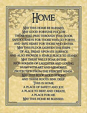 Home Blessing Prayer Poster Book of Shadows Page Wiccan Pagan Witch