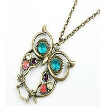 Long Owl Necklace Pendants For Women Wedding Jewelry Accessories Collares
