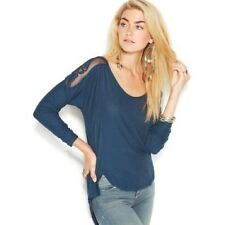 132432 Free People The Gatsby Long Sleeve Patchwork Blouse Tunic Top Large L