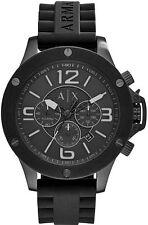 A|X Men's Armani Exchange Chronograph Black Silicone Strap Watch AX1523