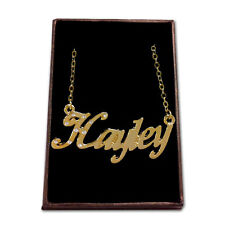 Gold Plated Name Necklace - HAYLEY - Gift Ideas For Her - Identity Neckless