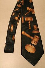 Auctioneer Gavel Going Once Sold On A New Black Polyester Neck Tie    Free Shipp