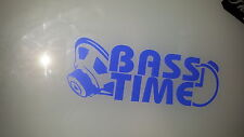 Bass time.speaker,clock Decal Sticker, Laptop, Window, Car, Van, Bumper,door