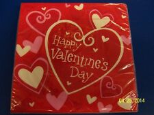 Valentine Be Mine Heart Valentine's Day Holiday Party Paper Luncheon Napkins
