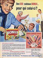 Publicité Advertising 056 1961 Bonux 500 cadeaux