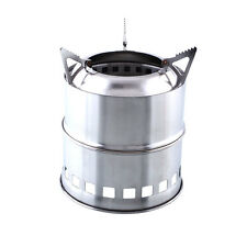 Solo Stainless Steel Stove Titan Burning Survival Backpacking Camping Cook new