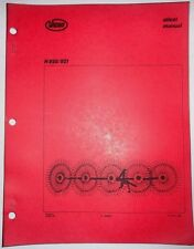 Vicon H 820 821 Fingerwheel Rake Operators Owners Manual