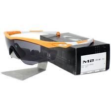 Oakley OO 9343-03 M2 FRAME XL Atomic Orange Grey Lens Mens Sports Sunglasses