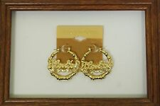14KT Gold GF Pincatch Bamboo Classic Hoop Earrings KTOL1 KT17