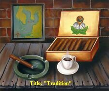 """Reduce Price !! """"Tradition """" .Cuban Oil painting 20""""x 16""""."""
