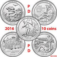 2016 COMPLETE P&D SET QUARTERS SHAWNEE CUMBERLAND GAP HARPERS THEODORE MOULTRIE