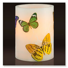 Lilac Scented Flameless LED Candle - Butterfly Print Design