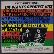 SANTO & JOHNNY: The Beatles Greatest Hits LP (rubber stamp on back cover) Oldie