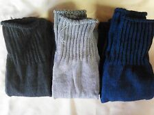 ~ WOOL SOCKS - 3 pair - diff.colors - Over the knee - MADE IN USA - New