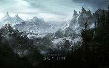 The Elde Skyrim Scrolls Amazing Art Silk Poster Room Decor 24x36inch