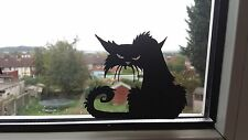 Scary Black Cat Spooky Car/Bike/Window/Wall/Laptop Halloween Vinyl Decal Sticker