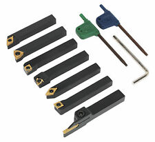 SM3025CS5 Sealey Indexable 8mm Lathe Turning Tool Set 7pc [Lathes] Machine Shop