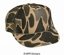 BLANK Solid Tan Camo  Mesh Snap Back Cap Trucker Mesh Hat