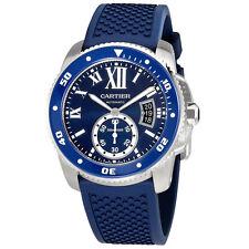 Cartier Calibre Diver Automatic Blue Dial Mens Watch WSCA0011