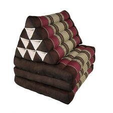 Thai Three Fold Triangular Cushion - Maroon