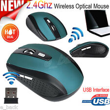 Wireless Slim USB 2.4 GHz Optical 2400DPI Scroll Mouse Mice For PC Laptop Mac