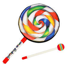 """Tera 8"""" Lollipop Drum with Drumstick Music Rhythm Instruments for Kids Baby Toy"""