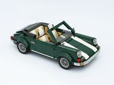 Lego Custom Green Porsche car 911 718 Cayman S Luxuary Car Mini Model AUTO