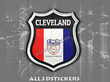 3D Emblem Sticker Resin Domed Flag Cleveland - USA Adhesive Decal Vinyl