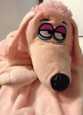 Cuddle Up Pets Pink Poodle Interactive Blankets that are puppets 28x39 Sooo Soft