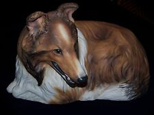 "Vintage The Townsends RARE Ceramic Signed Collie Dog 24"" Long"