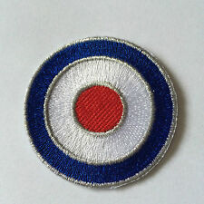Embroidered RAF Roundel Mod Target Iron on Sew on Patch Badge