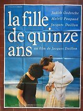 Affiche LA FILLE DE 15 ANS Jacques Doillon JUDITH GODRECHE Poupaud 120x160cm *D